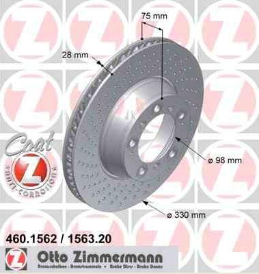 Bremsscheibe Hinterachse LINKS Coat Z für Porsche 911 Targa Carrera 460156220