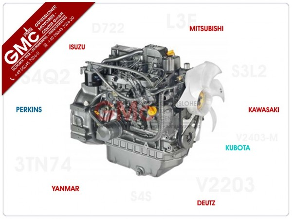 Yanmar 3TNE74 Motor im AT